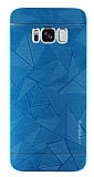 Motomo Prizma Samsung Galaxy S8 Plus Metal Mavi Rubber Kılıf
