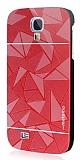 Motomo Prizma Samsung i9500 Galaxy S4 Metal K�rm�z� Rubber K�l�f