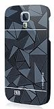 Motomo Prizma Samsung i9500 Galaxy S4 Metal Siyah Rubber K�l�f