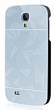 Motomo Prizma Samsung i9500 Galaxy S4 Metal Silver Rubber K�l�f