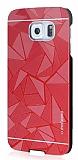 Motomo Prizma Samsung i9800 Galaxy S6 Metal Kırmızı Rubber Kılıf