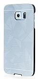 Motomo Prizma Samsung i9800 Galaxy S6 Metal Silver Rubber Kılıf