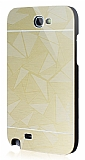 Motomo Prizma Samsung N7100 Galaxy Note 2 Metal Gold Rubber K�l�f