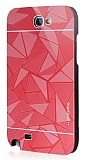 Motomo Prizma Samsung N7100 Galaxy Note 2 Metal Kırmızı Rubber Kılıf