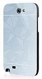Motomo Prizma Samsung N7100 Galaxy Note 2 Metal Silver Rubber Kılıf