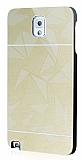Motomo Prizma Samsung N9000 Galaxy Note 3 Metal Gold Rubber K�l�f