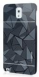 Motomo Prizma Samsung N9000 Galaxy Note 3 Metal Siyah Rubber K�l�f