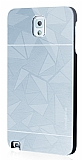 Motomo Prizma Samsung N9000 Galaxy Note 3 Metal Silver Rubber Kılıf