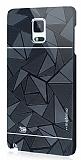 Motomo Prizma Samsung N9100 Galaxy Note 4 Metal Siyah Rubber K�l�f