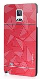 Motomo Prizma Samsung N9100 Galaxy Note 4 Metal K�rm�z� Rubber K�l�f