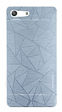 Motomo Prizma Sony Xperia M5 Metal Silver Rubber Kılıf