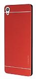 Motomo Sony Xperia XA Metal Kırmızı Rubber Kılıf