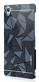 Motomo Prizma Sony Xperia Z3 Metal Siyah Rubber Kılıf