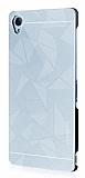 Motomo Prizma Sony Xperia Z3 Metal Silver Rubber Kılıf