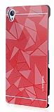 Motomo Prizma Sony Xperia Z3 Metal Kırmızı Rubber Kılıf