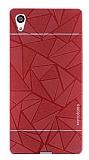 Motomo Prizma Sony Xperia Z5 Metal Kırmızı Rubber Kılıf