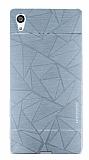 Motomo Prizma Sony Xperia Z5 Metal Silver Rubber Kılıf