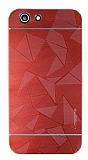 Motomo Prizma Turkcell T70 Prizma Metal Kırmızı Rubber Kılıf