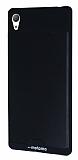 Motomo Round Sony Xperia Z3 Metal Siyah Rubber Kılıf