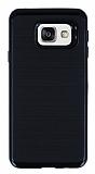 Motomo Samsung Galaxy A3 2016 Siyah Kenarlı Siyah Silikon Kılıf