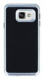 Motomo Samsung Galaxy A3 2016 Silver Kenarlı Siyah Silikon Kılıf