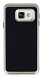Motomo Samsung Galaxy A3 2016 Gold Kenarlı Siyah Silikon Kılıf