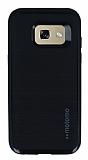 Motomo Samsung Galaxy A3 2017 Siyah Kenarlı Siyah Silikon Kılıf