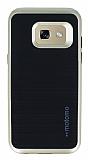Motomo Samsung Galaxy A3 2017 Gold Kenarlı Siyah Silikon Kılıf