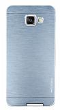Motomo Samsung Galaxy A5 2016 Metal Silver Rubber Kılıf