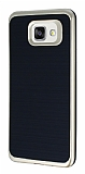 Motomo Samsung Galaxy A7 2016 Gold Kenarlı Siyah Silikon Kılıf