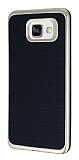 Motomo Samsung Galaxy A7 2016 Gold Kenarl� Siyah Silikon K�l�f