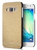 Motomo Samsung Galaxy A7 Metal Gold Rubber Kılıf