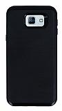 Motomo Samsung Galaxy A8 2016 Siyah Kenarlı Siyah Silikon Kılıf
