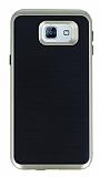 Motomo Samsung Galaxy A8 2016 Gold Kenarlı Siyah Silikon Kılıf