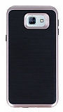 Motomo Samsung Galaxy A8 2016 Rose Gold Kenarlı Siyah Silikon Kılıf