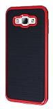 Motomo Samsung Galaxy A8 Kırmızı Kenarlı Siyah Silikon Kılıf