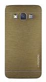 Motomo Samsung Galaxy A3 Metal Gold Rubber K�l�f