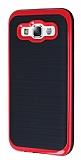 Motomo Samsung Galaxy E5 Kırmızı Kenarlı Siyah Silikon Kılıf
