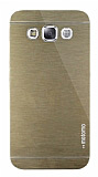 Motomo Samsung Galaxy E5 Metal Gold Rubber Kılıf
