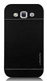 Motomo Samsung Galaxy Grand Metal Siyah Rubber K�l�f