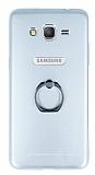 Motomo Samsung Galaxy Grand Prime / Prime Plus Selfie Yüzüklü Metal Silver Rubber Kılıf