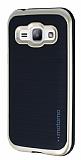 Motomo Samsung Galaxy J1 Gold Kenarlı Siyah Silikon Kılıf
