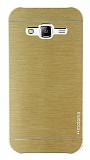 Motomo Samsung Galaxy J5 Metal Gold Rubber Kılıf