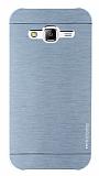 Motomo Samsung Galaxy J5 Metal Silver Rubber Kılıf