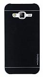 Motomo Samsung Galaxy J5 Metal Siyah Rubber Kılıf
