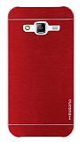 Motomo Samsung Galaxy J5 Metal Kırmızı Rubber Kılıf