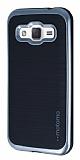 Motomo Samsung Galaxy J2 Silver Kenarlı Siyah Silikon Kılıf