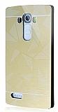 Motomo Prizma LG G4 Metal Rubber Gold K�l�f