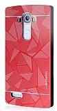 Motomo Prizma LG G4 Metal Rubber K�rm�z� K�l�f