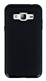 Motomo Samsung Galaxy J3 Siyah Kenarlı Siyah Silikon Kılıf